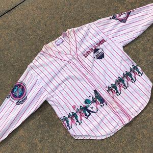 Other - Vintage Girls of Baseball Jersey Pajama Top